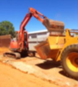 Ground Masters complete a house demolition, Kalgoorlie Boulder excavator loader