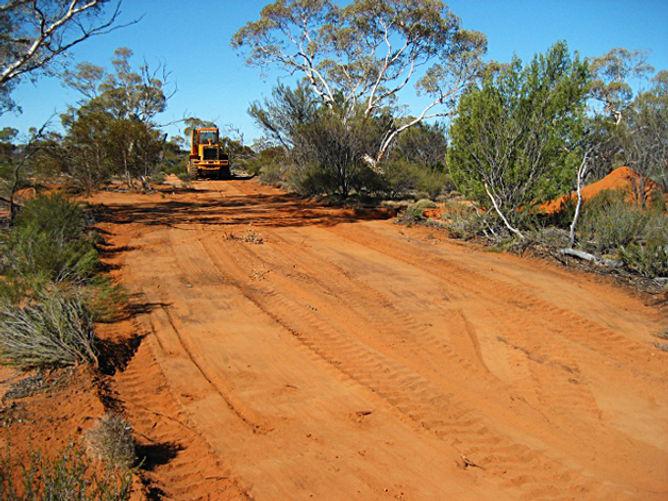Ground Masters Kawasaki Loader clearing tracks for mining exploration