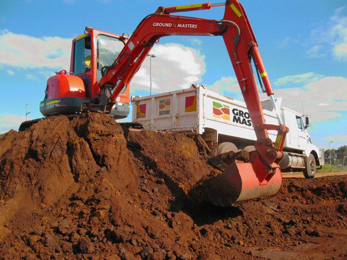 Ground Masters Doosan Excavator International Tip Truck Civil Earthworks