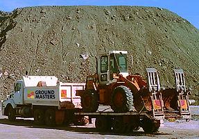 Ground Masters truck trailer excavator mine site