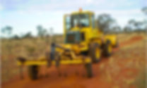 Ground Masters Kawasaki Loader with Scarifier, completing mine site rehabilitation earthworks