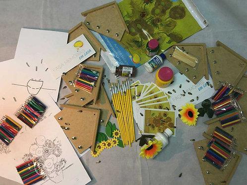 Kit Girassóis Van Gogh para grupos
