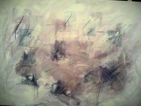 """Original abstract painting """"Cityscape"""""""