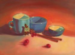 Blue Mug and Bowls