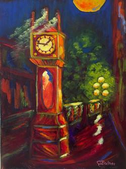Gastown Clock at Night
