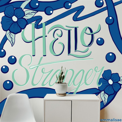 Mural design for a wait room