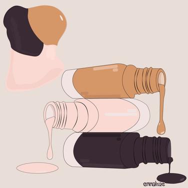Spilled nail polish illustration