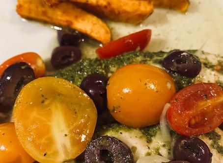 Pesto Chicken en Papillote