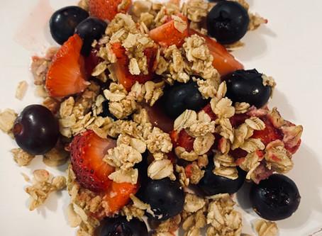 Healthy Berry Crisp