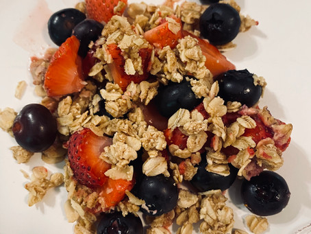 Healthy Berry Crisp