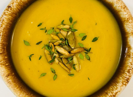 Butternut Squash, Leek, and Apple Soup  (a.k.a. Apple Soup in my house)
