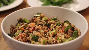 Wild Rice and Roasted Vegetable Salad