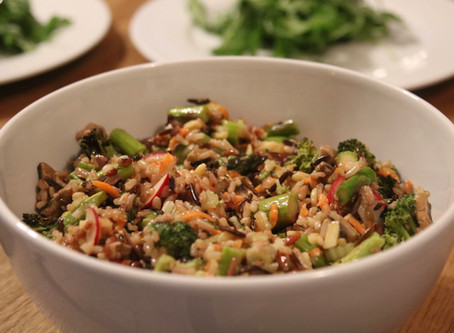 Wild Rice and Roasted Vegetable Salad