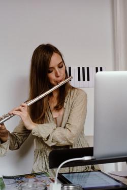 Querflötenlehrerin, Querflötenlehrer, Online Querflötenunterricht,