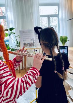 Blockflötenunterricht online, Kinder Querflötenunterricht