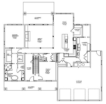 Seaside Floor Plan Layout Main Level