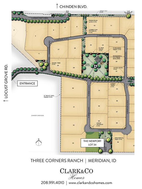 Newport - Three Corners Ranch Plat Map.png