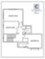 The Hampton 2 Story Upper Floor Plan