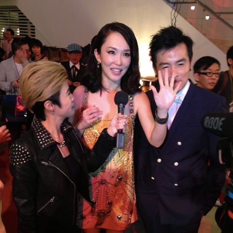 Star Awards BTS with Fann Wong and Christopher Lee