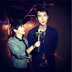 Star Awards BTS with Wu Chun