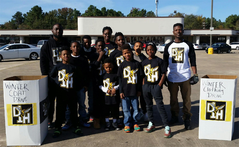 Houston D1 Hornets Dec 5 Coat Drive Pic 2