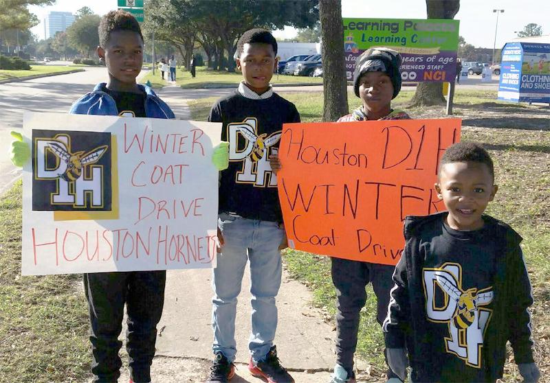 Houston DI Hornets Dec 5 Coat Drive Mentors Pic 7