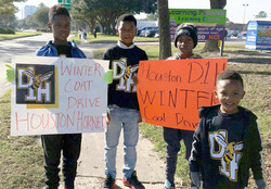Houston DI Hornets Dec 5 Coat Drive Mentors Pic 7