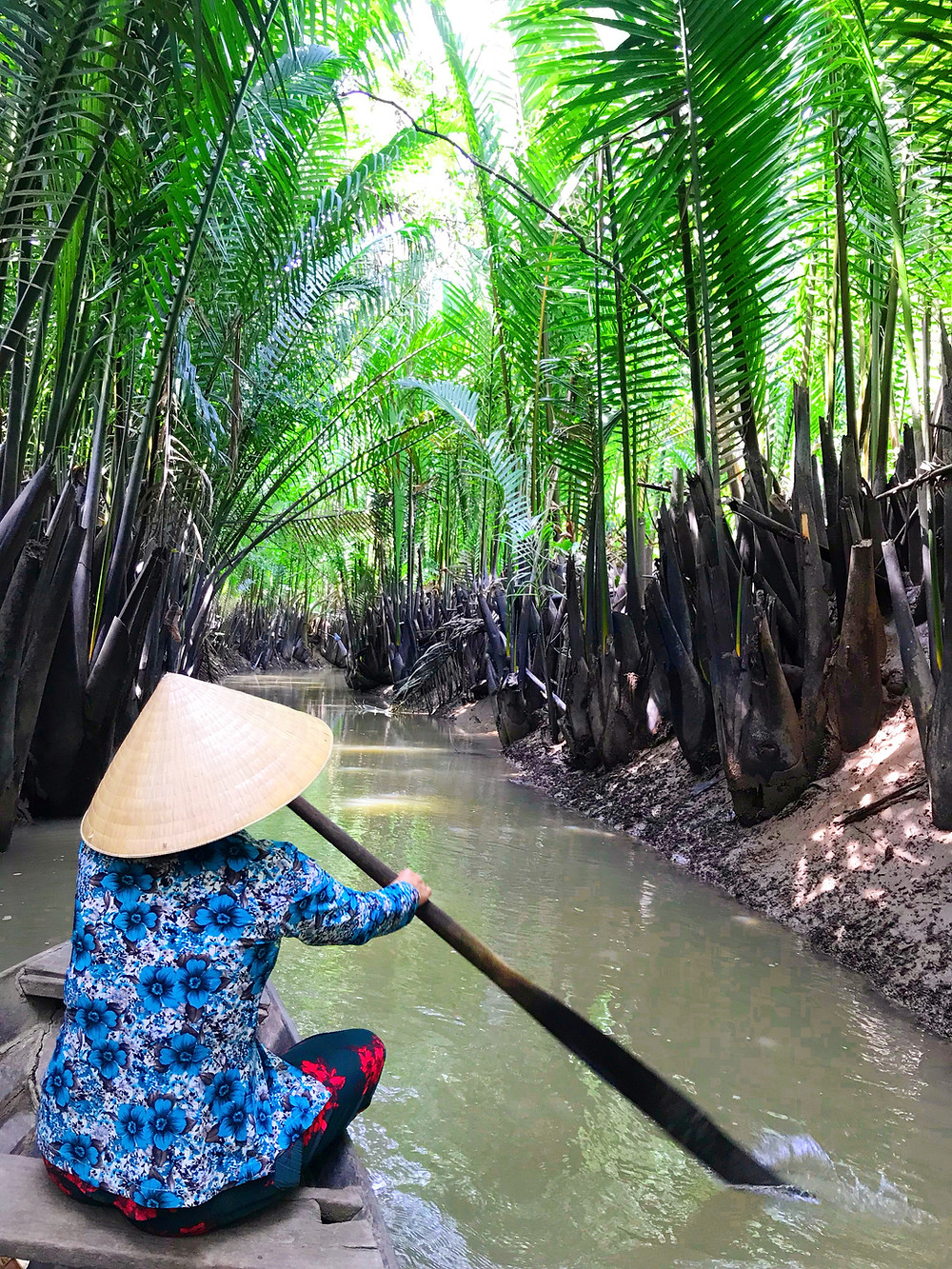 Floating through the canals of the Mekong Delta