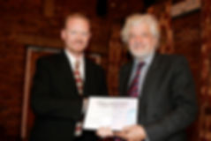 Cameron Grant, Managing Director of OEM Group Ltd., accepted the award from Del Goddard, MP.