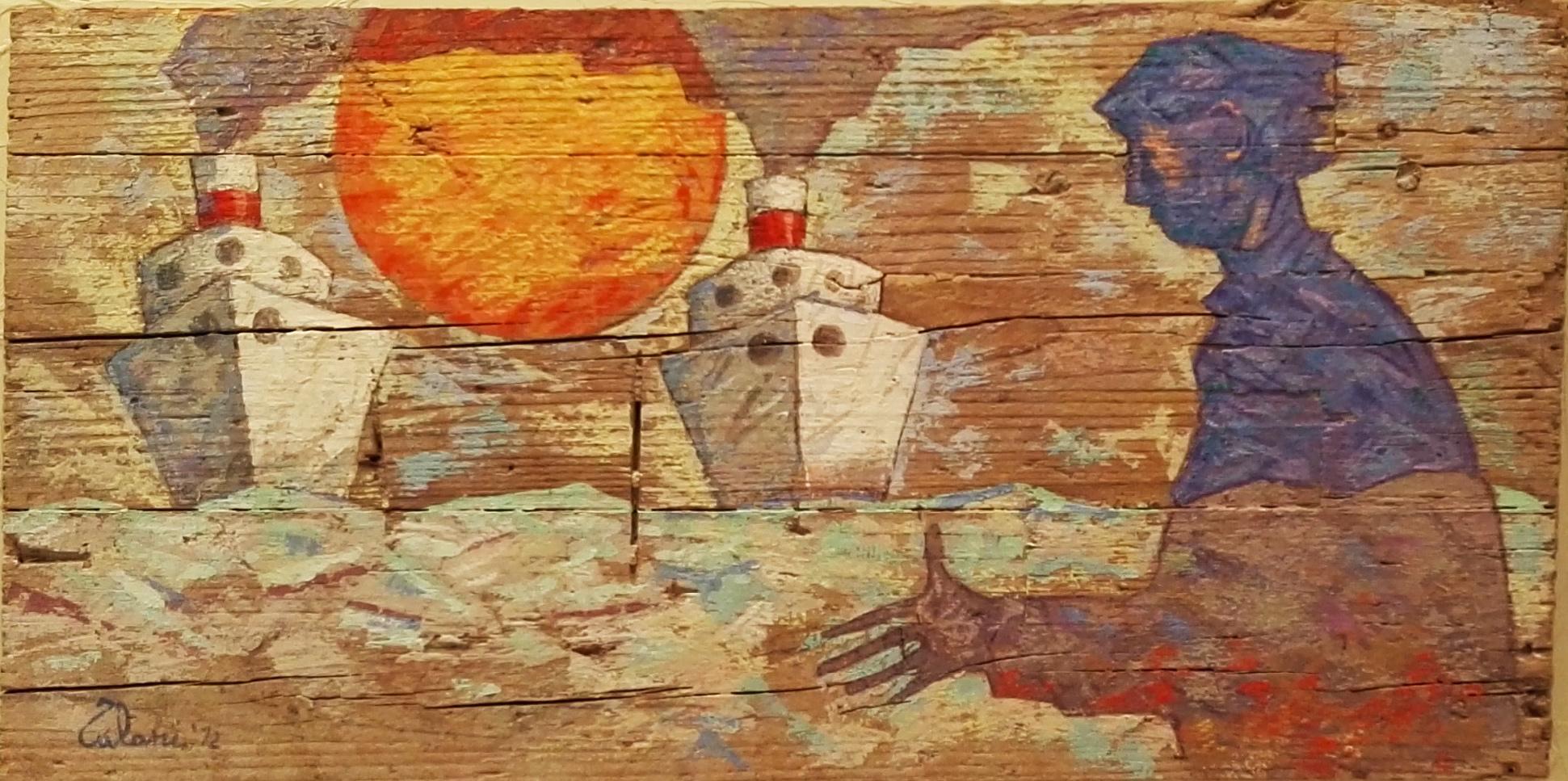 Arrivo di due navi bianche
