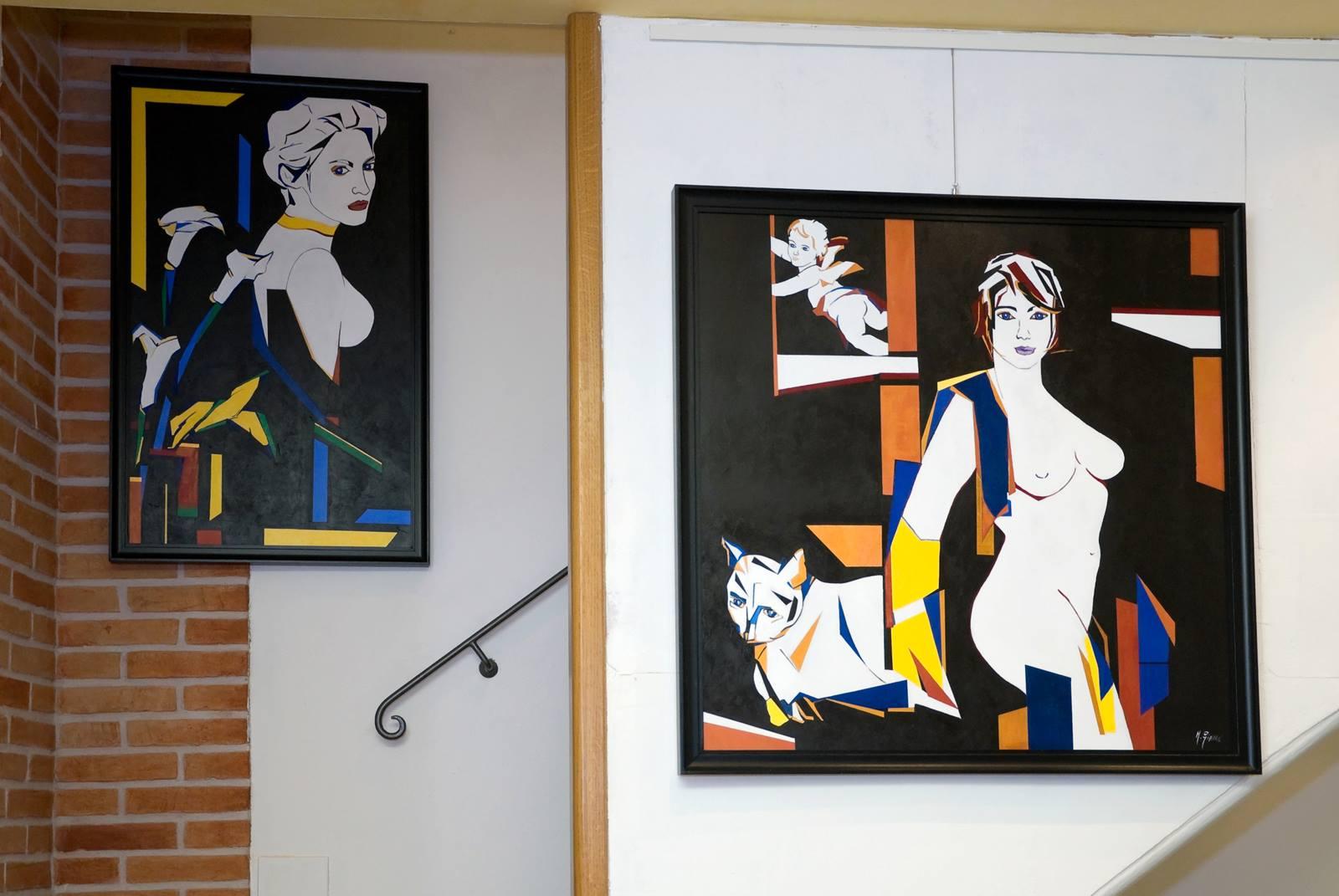 Alcuni quadri della personale