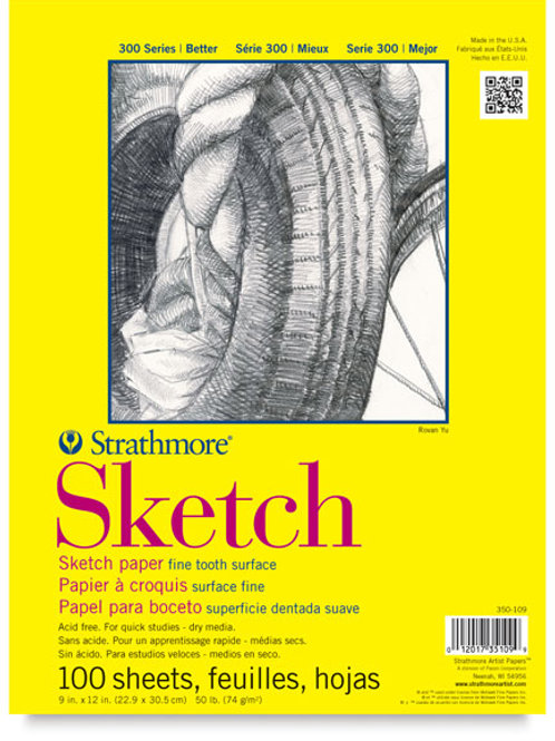 "Strathmore Sketch Paper Pad 9"" x 12"""