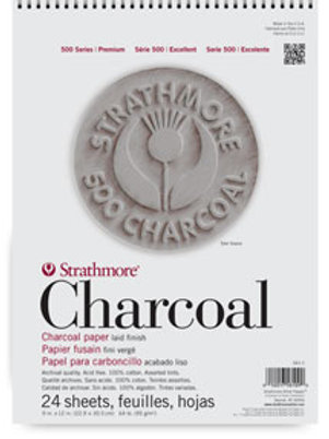 "Strathmore 500 Series Charcoal Pads 9"" x 12"""