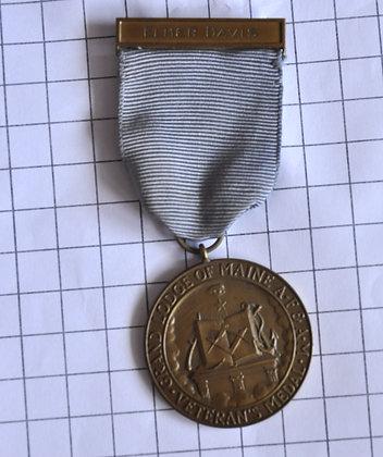 ELMER DAVIS VETERAN'S MEDAL / A.F & A.M / 4x10cm