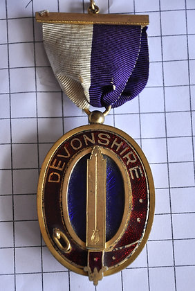 DEVONSHIRE / LODGE NO. 64 / 4x12cm