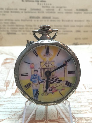 Antique Silver Masonic Pocket Watch