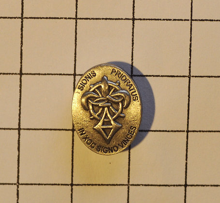 """ORDER OF SION"" PIN - IN HOC SIGNO VINCES"
