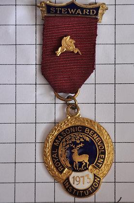 STEWARD 1973 / R.M.B.I / 4x9cm