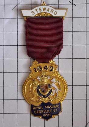 STEWARD 1942 / R.M.B.I / 4x9cm
