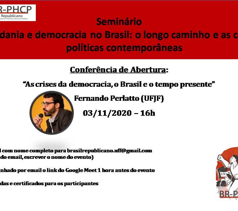 Seminário Cidadania e democracia no Brasil - nov 2020