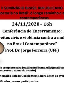 II Seminário Brasil Republicano nov. 2020