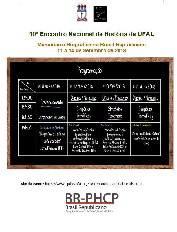 10 Encontro Nacional de Historia da UFAL