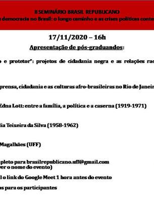 Senminário Brasil Republicano - nov 2020