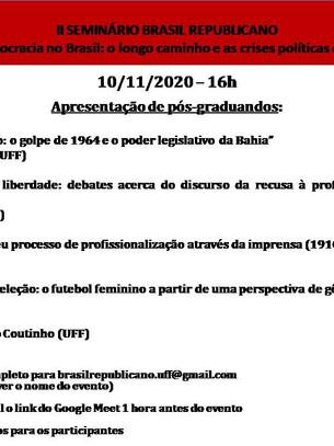 II Seminário Brasil Republicano - nov 2020