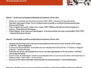 Primeiro seminário do grupo de pesquisa Brasil Republicano