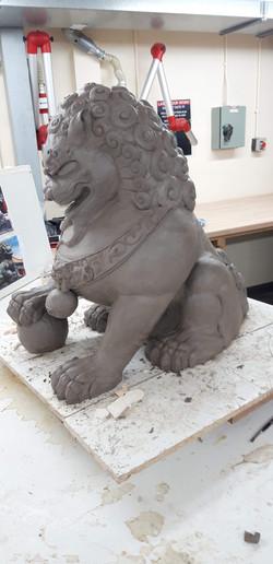Komainu Lion Sculpt, May 2019