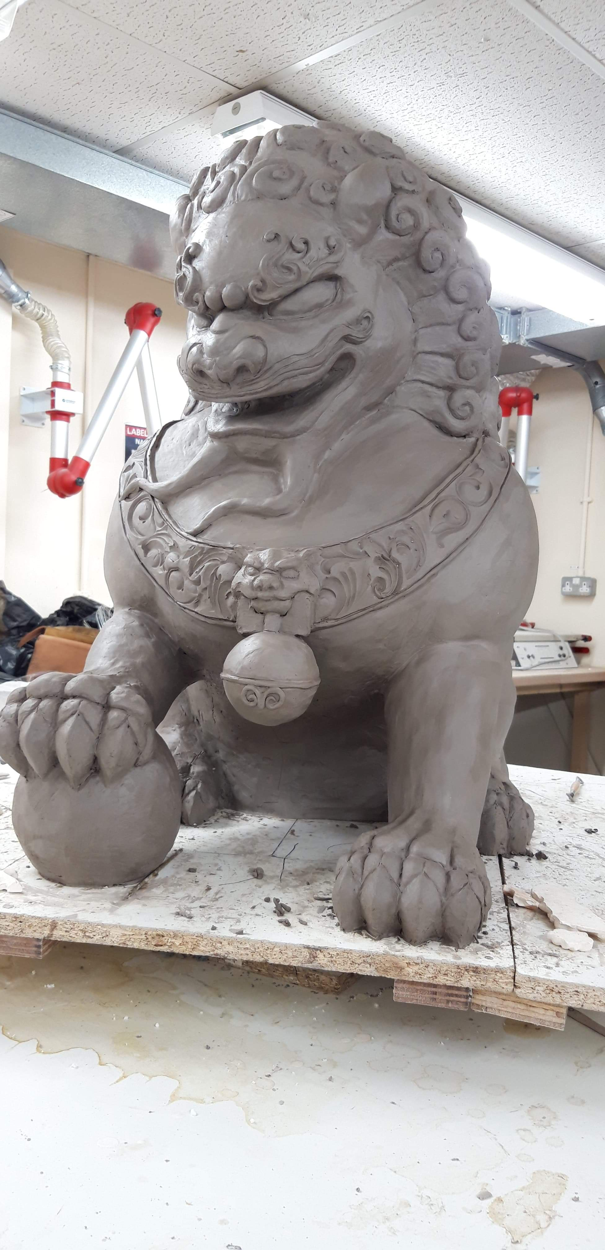 Komainu Lion Sculpt, May 2019