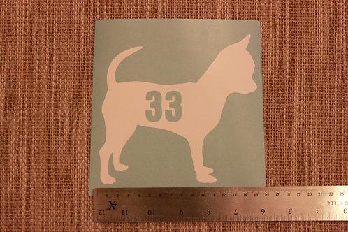 3 x Wheelie Bin Numbers - Chihuahua Design