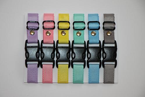 Set of 6 plain puppy id collars