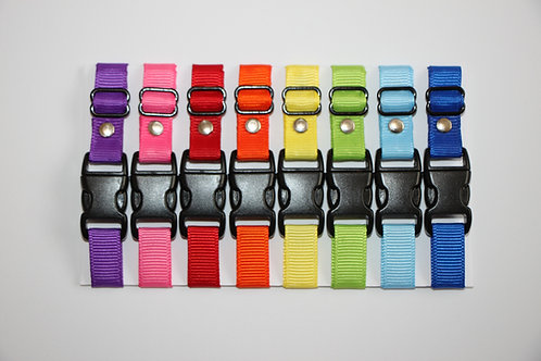 Set of 8 plain puppy id collars